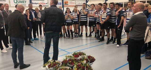 Blauw-wit wint Reserve Korfbal Leaque finale in de OVVO-hal