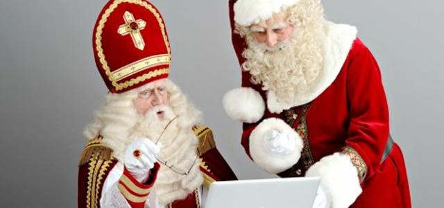 Sinterklaas en Kerstman sponsoren OVVO via Sponsorkliks