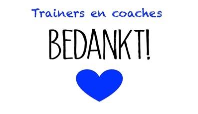 Trainers en coaches bedankt